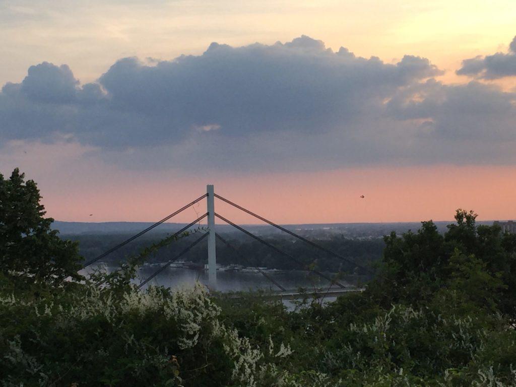 Leto u Novom Sadu most kod dunava